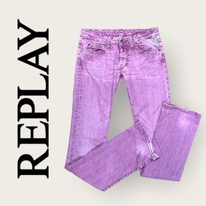 Replay Ladies' Pink/Purple Low Rise Bootcut Jeans